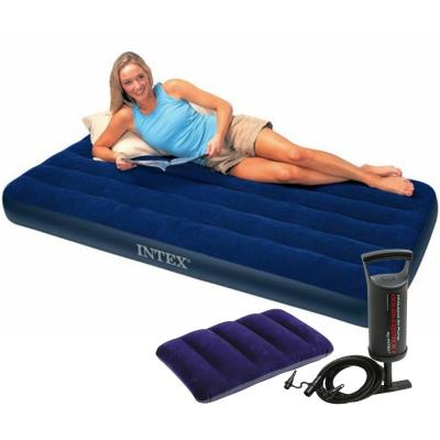 Intex 64756 Dura-Beam Standard Classic Downy Air Bed, 76 x 191 x 25 cm With Pump and Pillows