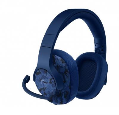 Logitech Gaming Headset Wired G433 7.1 Surround Sound Blue Camo 981-000688
