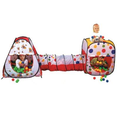 Wonder Castle Play Tent Ball House and Tunnel with 200 Soft Balls