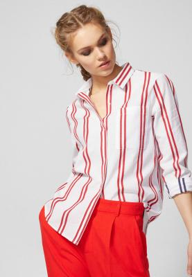 Springfield Womens  Shirt White withRed Lines , Size 40