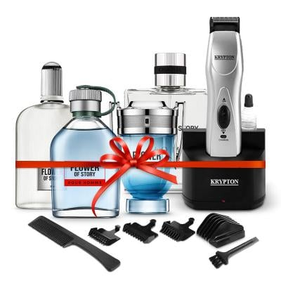 Combo pack, Krypton Rechargeable Trimmer Plus Perfume Gift Set