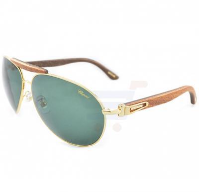 Chopard Oval Rose Gold Frame & Green Gradient Mirrored Sunglass For Women - SCHA55V-300P