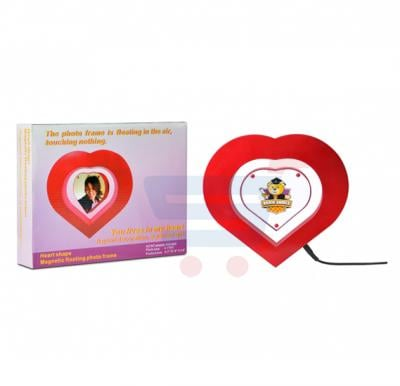 Brain Games Magnetic Heart shaped Floating Photo Frame-BG-10074