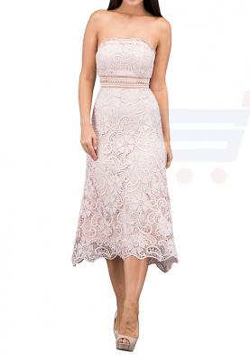 TFNC London Yany Lace Midi Formal Dress Mocha - CTT 55370 - M