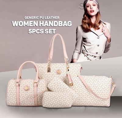 Generic PU Leather Women Handbag 5pcs Set,White