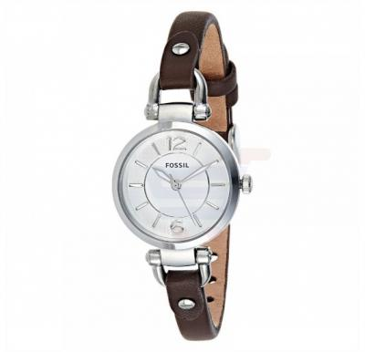 Fossil Georgia Casual Leather Band Watch For Women - ES3861P