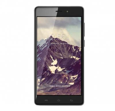 Lava Iris 820 Smartphone, 3G, Android 6.0 (Marshmallow), 5 Inch HD IPS Display, 1GB RAM, 8GB Storage, Dual Camera, Dual SIM, Wifi - Black