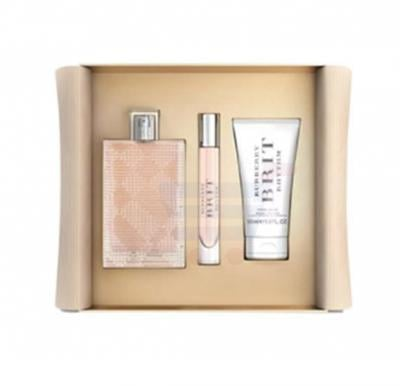 Burberry Brit Rhythm Gift Set EDT 90ml, Body Lotion 50ml and Miniature 7.5ml
