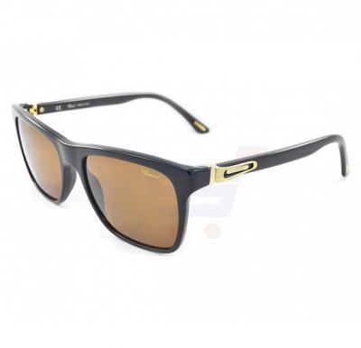 Chopard Oval Black Frame & Brown Mirrored Sunglass For Men - SCH151-700P