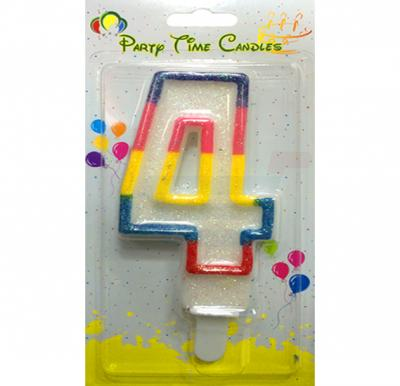 Party Time Number Candle 4 Big M098