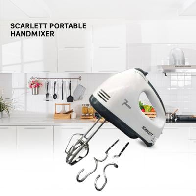 Scarlett Portable Handmixer 180W HE133 White/Grey