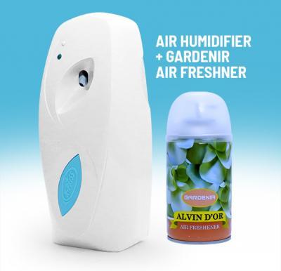 2 In 1 Bundle, Automatic Air Humidifier plus 300 ML Alvin Dor Gardenia Air Freshner