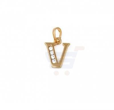 Xuping Necklace Pendant Gold Plated Letter  V