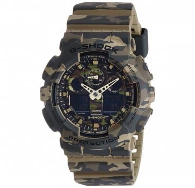 Casio G-Shock GA-100CM-5ADR Analog-Digital Green Dial Men Watch