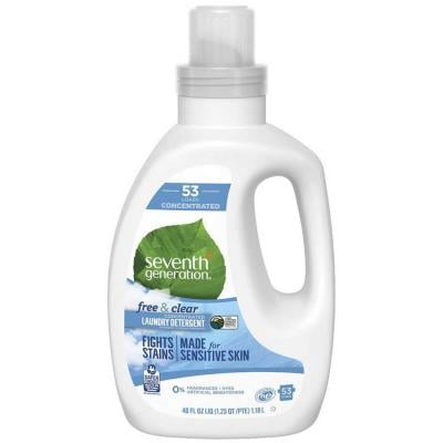 Seventh Generation Liquid Laundry 40 Oz 4X Concentrated Free