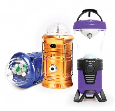 2 in 1 Bundle Toshiba Emergency Lantern with Multifunctional Color LED Camping Lamp