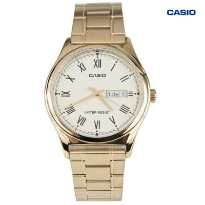 Casio MTP-V006G-7BVDF Analog Watch For Men, Gold