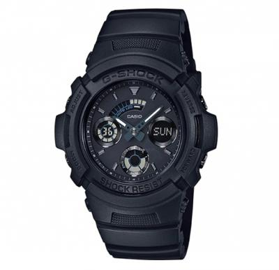 Casio G-shock Mens Black out Series All Black Analog Digital Mens watch, AW-591BB-1ADR