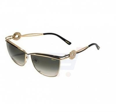 Chopard Cat-eye Rose Gold Frame &  Rose Gold Polished / Green Gradient Mirrored Sunglasses For Women - SCHB26S-0301