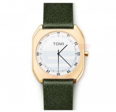 TOMI Luxury Quality Quartz Leather Watch for Women And Men T068, Green