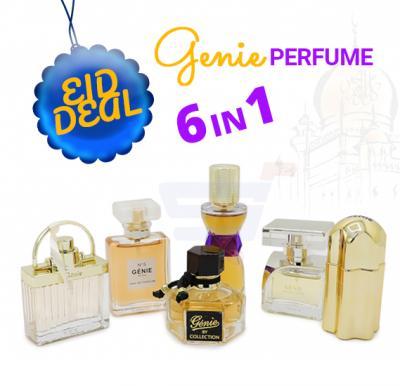 Genie 6 In 1 Assorted Perfume Golden Deal