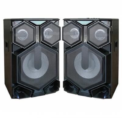 Olsenmark 2 x 12 Inch Woofer High Power 2.0 Professional Usb/Bt/Rec Speaker - OMMS1187
