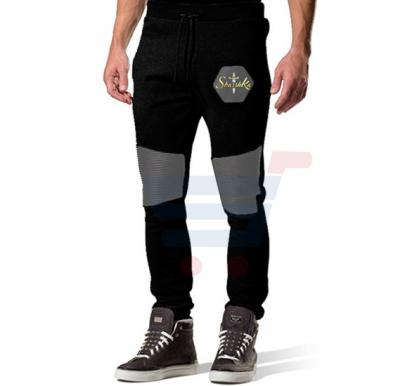Mens LEATHER Touch Designer Trouser Black - 2985 - S