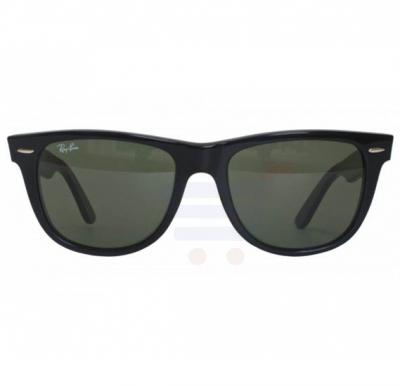 Ray-Ban Wayfarer Black Frame & Green Mirrored Sunglasses For Women - RB2140-901-54