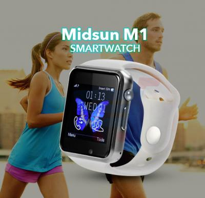 Midsun M1 Smart Watch, Android Support, Camera, Bluetooth(WHITE)