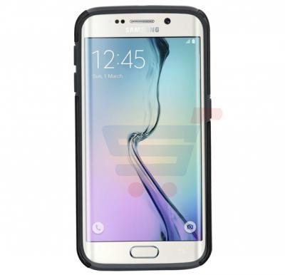 Promate mountCase S6E for Samsung Galaxy S6 Edge, Ultra Slim Metallic Finish Case With Detachable Car Mount, Gold