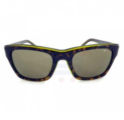 Lacoste Oval Havana Frame & Green Gradient Mirrored Sunglasses For Unisex - L645S-214