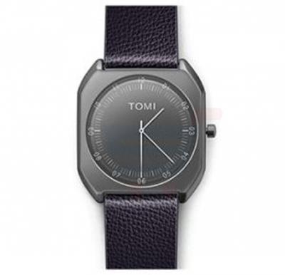 TOMI Luxury Quality Quartz Leather Watch for Women And Men T068, Violet