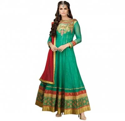 Fiona 12001 Georgette With Heavy Embroidery Designer Anarkali Dress
