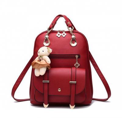 Vogue Star New Designer Women Backpack For Teens Girls-Red