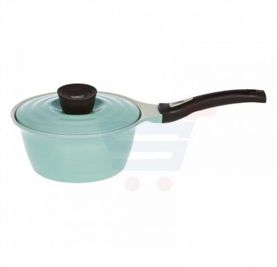 Pallas Ceramic Eco Sauce Pan with lid 18 cm - Green Mint