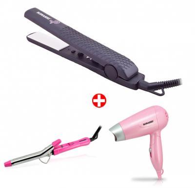 Bundle Offer ! Sonashi Ceramic Hair Straightener SHS-2006 + Sonashi Hair Curling Iron SHC-3002 + Sonashi Travel Hair Dryer SHD-5001