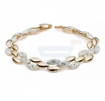 18K Gold Plated Zircon Crystal Bracelet - MM140
