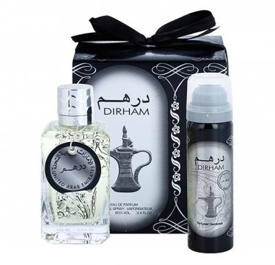 Dirham 2 in 1 gift set, Perfume plus Body Spray edp 100 ML