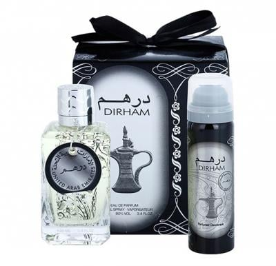 Dirham 2 in 1 gift set, Perfume plus Body Spray edp 100 ML