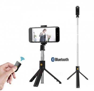 2 in 1 Wireless Bluetooth Tripod Selfie With One Button Control Photo Bluetooth Selfie Stick