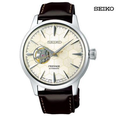 Seiko Men Analog Leather Strap Watch, SSA409J1