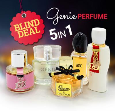 Genie collection blind deal 5 in 1 combo 8827,9018,8820,8834,8828 25ml