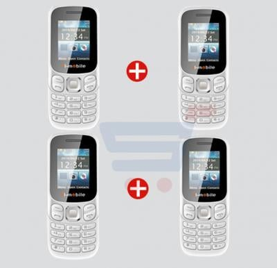 Bundle Offer! H1 Mobile Mini Cell Phone  Dual SIM - 4 Nos.(WHITE)