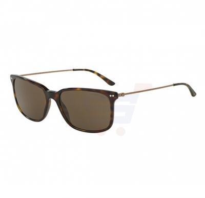 Giorgio Armani Rectangular Havana Frame & Brown Mirrored Sunglasses For Unisex - 0AR8063-502673