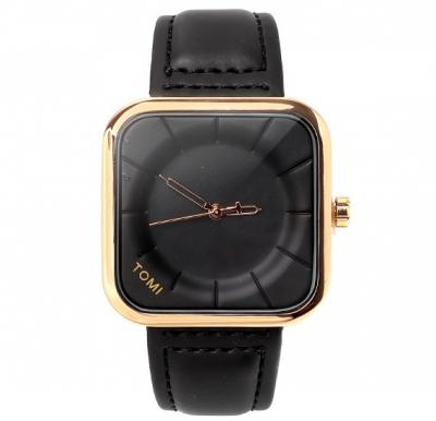 Tomi Black & Gold T093 Unisex Analog Watch for Men & Women