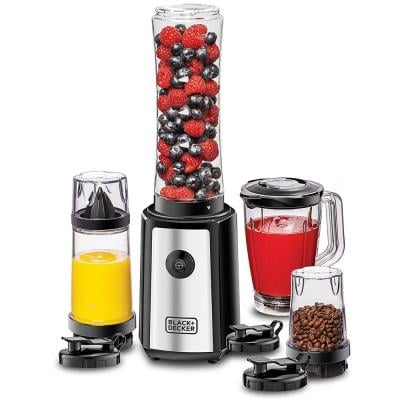 Black and Decker SBX300BCG-B 300W 16 Piece 4 in 1 Personal Sports Blender Set, Black