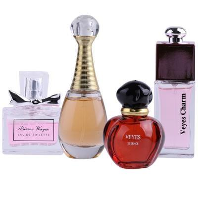 Veyes fragrances Perfume gift box for Ladies, 25ml x 4 Piece, PCP03