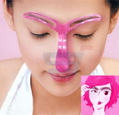 3D Eyebrow Shaper DIY Tool Grooming Stencil Kit Template Makeup Shaping