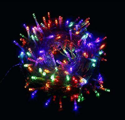 100 LED light Transparent wire 9.5mtr Box packing with 2 pin male to female LT-6351 Multicolor
