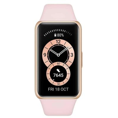 Huawei Band 6 Fitness Tracker With All Day SpO2 Monitoring Forest, Sakura Pink